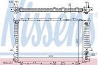 NISSENS Радиатор, охлаждение двигателя Audi 100, A6 2.6-2.8 94-97 (AT) 60476