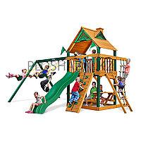 Детская площадка «Заря», домик с крышей, горка открытая, скалодром сетка лазалка, качели, лавочки