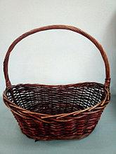 Корзина плетеная  из лозы Коричневая 50 см