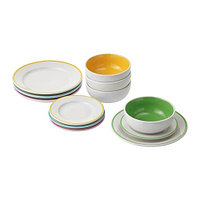 Посуда тарелка/миска ДУКТИГ 12 шт. ИКЕА.