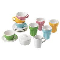 Набор для кофе/чая ДУКТИГ 10 шт. разноцветный ИКЕА.