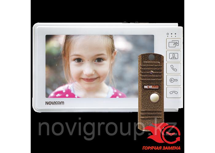 SMILE 7 HD KIT Комплект: HD видеодомофон SMILE 7 HD и уличная всепогодная вызывная панель LEGEND HD BRONZE