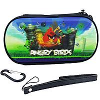 Чехол на молнии с 3D картинкой PSP 1000/2000/3000 3in1 3D picture, Angry Birds, фото 1