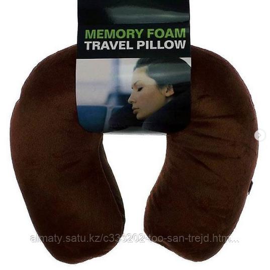 Дорожная подушка-подголовник Memory Foam Travel Pillow