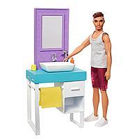 Набор игровой Barbie Кен в ванной FYK53