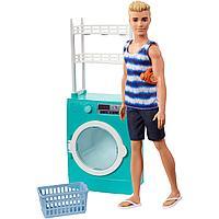 Набор игровой Barbie Кен в прачечной FYK51