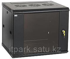 Шкаф LINEA W 12U 600x600 мм дверь стекло, RAL9005 LWR5-12U66-GF ITK