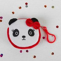 Мягкий кошелёк 'Панда', на карабине, красный бантик (комплект из 12 шт.)