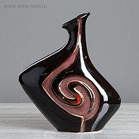 "Ваза ""Мелодийка"", чёрная, керамика, 36 см"