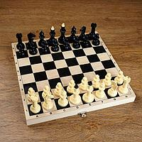 Шахматы (доска дерево 30х30 см, фигуры пластик, король h=6,5 см), фото 1