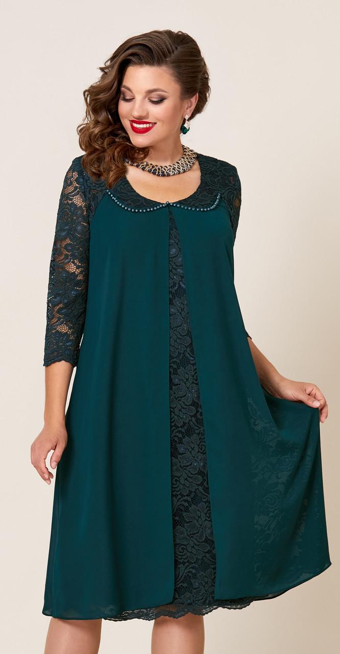 Платье Vittoria Queen-9043/6, изумруд, 54