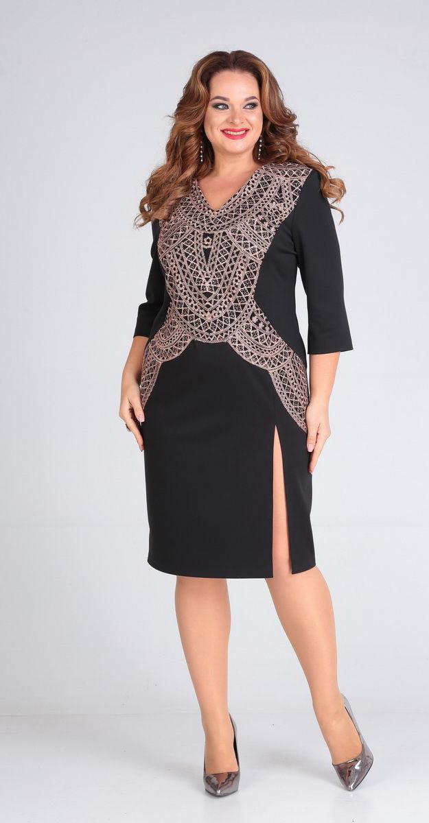 Платье Andrea Style-00214, черный, 52