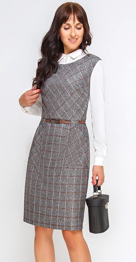 Платье Swallow-210, серый, 46