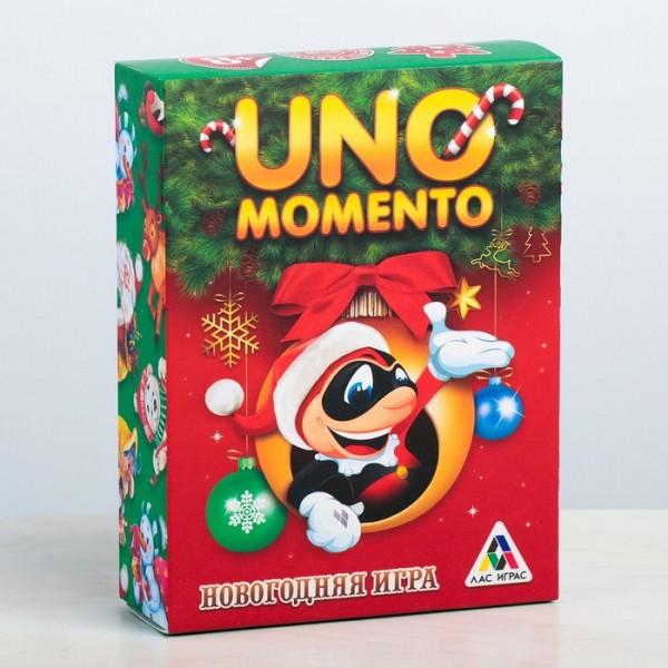 """Карточная игра """"UNO momento: Новогодняя игра"""""""