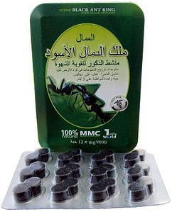 """Препарат для повышения потенции """"Super Black Ant King"""" (экстракт из чёрного муравья), 12 таблеток"""