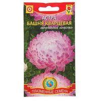 Семена цветов Астра 'Башня' кварцевая, О, 0,3 г (комплект из 10 шт.)