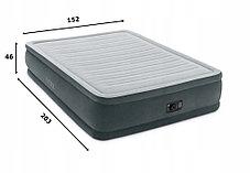 Надувная кровать Intex 67770 (Габариты: 152 х 203 х 33 см) со встроенным насосом, фото 3