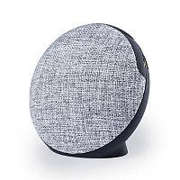 Bluetooth колонка FABRIC BASS круглая, черный, серый, , 345767