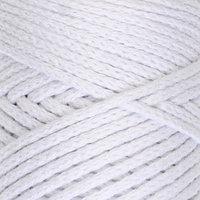 Шнур для вязания без сердечника 100 хлопок, ширина 3мм 100м/200гр (2155 белый)
