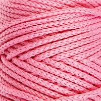 Шнур для вязания без сердечника 100 полиэфир, ширина 3мм 100м/210гр, (90 розовый)
