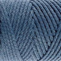 Шнур для вязания без сердечника 100 хлопок, ширина 2мм 100м/95гр (2175 джинс) МИКС