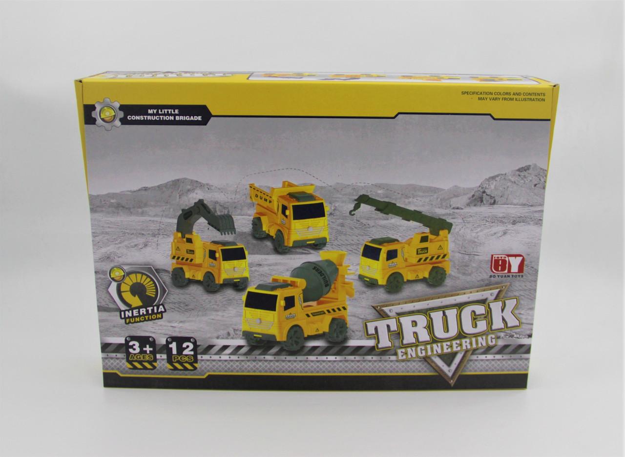 """Набор строительных машинок """"TRUCK ENGINERING"""" 12 шт"""
