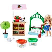 "Кукла Челси ""Овощной сад Челси"" Mattel Barbie FRH75"