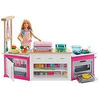 Mattel Barbie FRH73 Барби Супер кухня с куклой