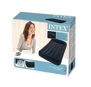 Черный надувной матрас Intex 66767 (Габариты: 191 х 99 х 23 см), фото 2