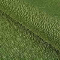"""Бумага гофрированная, """"Оливковый зелёный"""" 17А/8, 0,5 х 2.5 м, фото 1"""