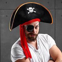 "Карнавальная шляпа ""Пират"", р-р 60"