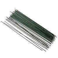"""Проволока 10 шт для изготовления искусственных цветов """"Зелёная"""" длина 40 см сечение 0,2 см"""