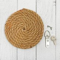 Основа для творчества и декорирования 'Круг из верёвки' D 10 см, крепление