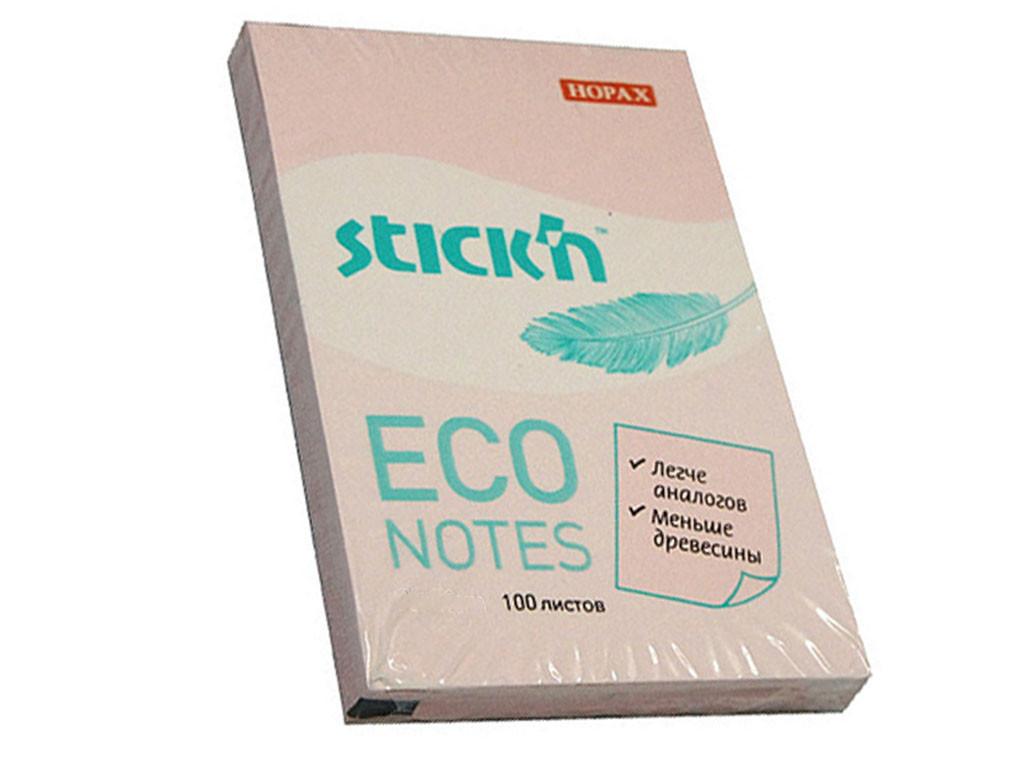 Клейкие листки STICK`N 51 х 76 мм розовые, 100 листов