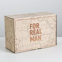 Коробка‒пенал For real man, 22 × 15 × 10 см