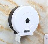Диспенсер для туалетной бумаги Джамбо (Jumbo) белый пластик, фото 2