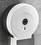 Диспенсер для туалетной бумаги Джамбо (Jumbo) белый пластик, фото 4