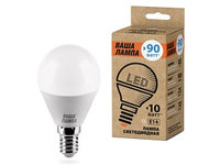 Лампа LED ВАША ЛАМПА G45 10Вт 900лм Е27 6500К   1/50