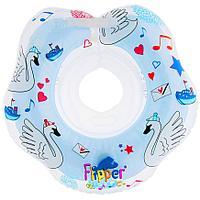 Круг на шею Roxy Kids Flipper Swan Lake Music голубой