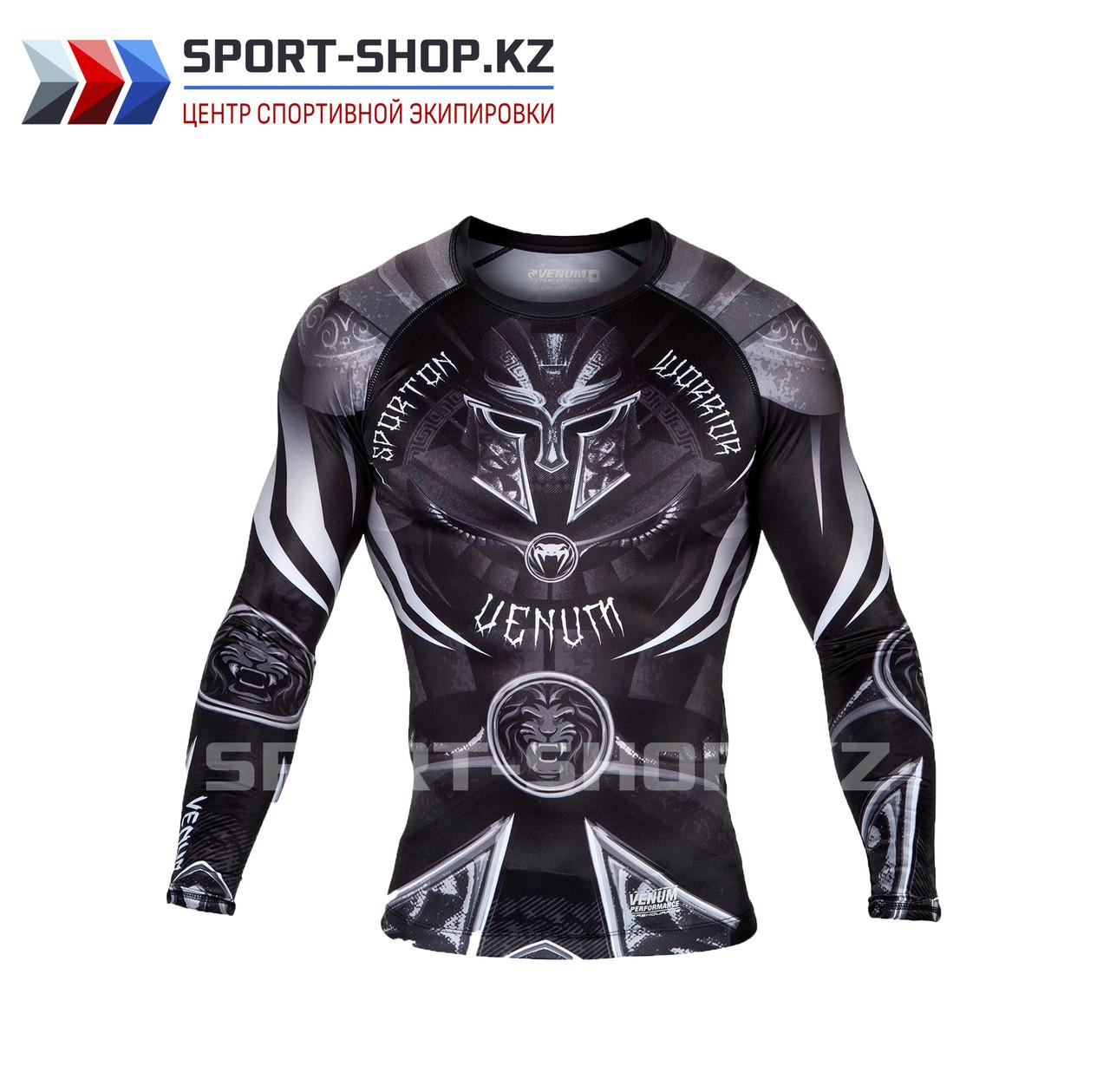 Рашгард Venum Gladiator 3.0 black white long sleeve