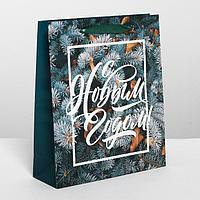 Пакет ламинированный вертикальный «Новогодняя пора», ML 23 x 27 × 8 см