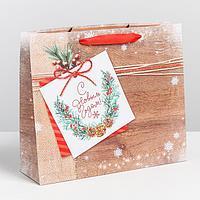 Пакет ламинированный горизонтальный «Новогоднее пожелание», ML 8 × 27 × 23 см