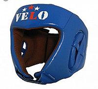 Кожаный шлем для бокса VELO  со знаком AIBA цвет красный ,синий