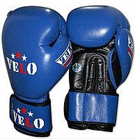 Боксерские перчатки VELO  ( натуральная кожа ) со знаком AIBA цвет красный ,синий