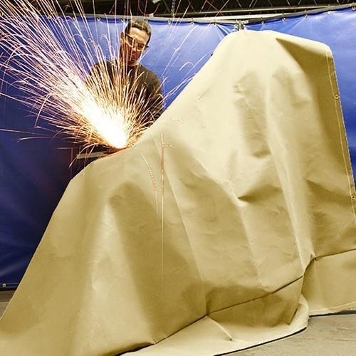 WELDING BLANKETS* 18 oz E-GLASS TEXTURED FIBERGLASS FABRIC (HEAT TREATMENT) 580 g/ m 20.75mm GOLD