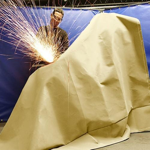 WELDING BLANKETS*35 oz E-GLASS VERMICULITE COATING TEXTURED FIBERGLASS FABRIC 1200 g/ m 22mm YELLOW