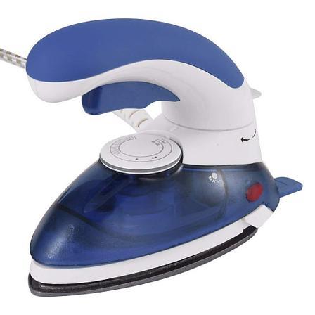Портативный паровой утюг 1000 Вт, цвет синий, фото 2