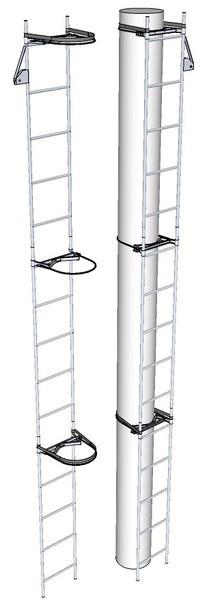 Лестница приставная разборная типа ЛПР (для железобетонных опор)