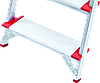 Стремянка алюминиевая NV500 10 широких ступеней профессиональная, фото 2