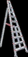 Стремянка алюминиевая садовая, 8 ступеней